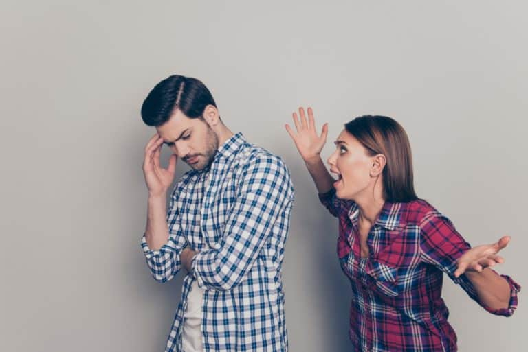 kłócąca się para