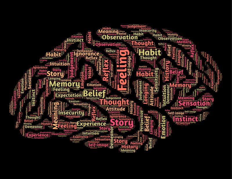 mózg ludzki z napisami